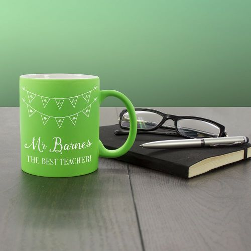 The Best Teacher Matte Coloured Mug (choice of colour)